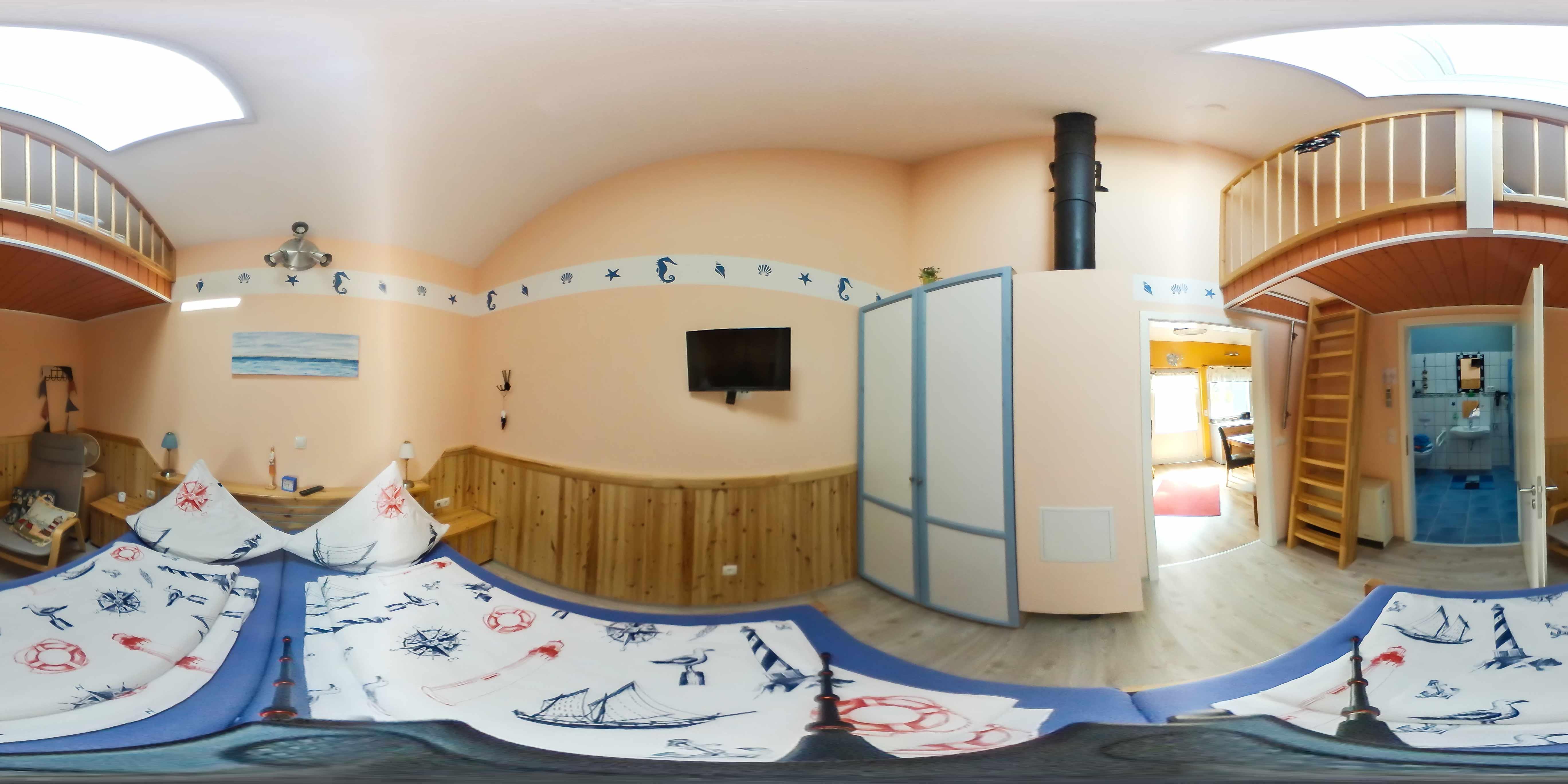 Schlafbereich 2 mit Hochbett
