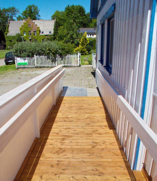 Rollirampe aus Holz breit