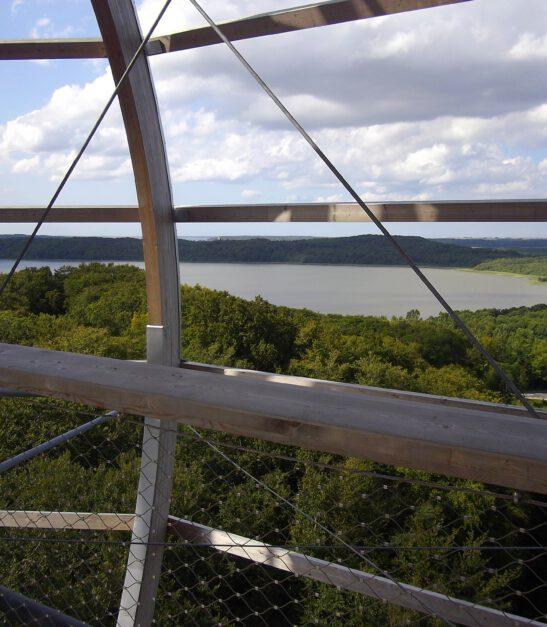 Ausblick vom Baumwipfelpfad